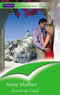 Chomikuj, ebook online Powrót do Grecji. Anne Mather
