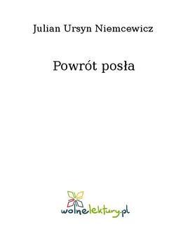 Chomikuj, ebook online Powrót posła. Julian Ursyn Niemcewicz