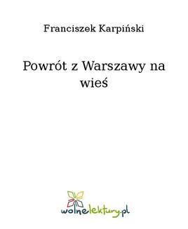 Chomikuj, ebook online Powrót z Warszawy na wieś. Franciszek Karpiński