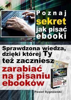 Ebook Poznaj sekret jak pisać ebooki pdf