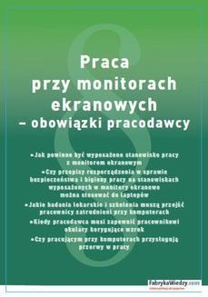 Ebook Praca przy monitorach ekranowych – obowiązki pracodawcy pdf