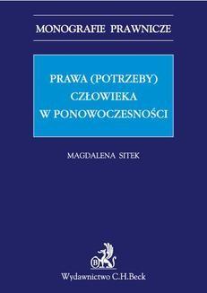 Ebook Prawa (potrzeby) człowieka w ponowoczesności pdf