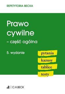 Ebook Prawo cywilne – część ogólna. Pytania. Kazusy. Tablice. Testy pdf