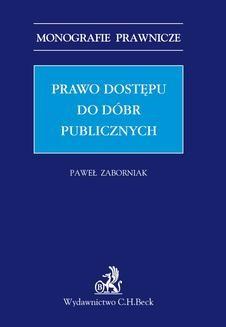 Ebook Prawo dostępu do dóbr publicznych pdf