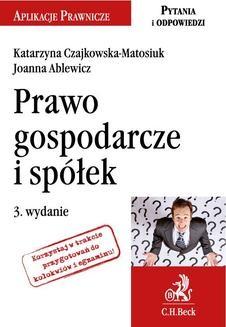 Ebook Prawo gospodarcze i spółek. Wydanie 3 pdf