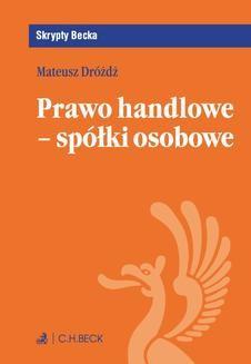 Ebook Prawo handlowe – spółki osobowe pdf