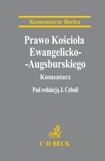 Ebook Prawo Kościoła Ewangelicko-Augsburskiego. Komentarz pdf