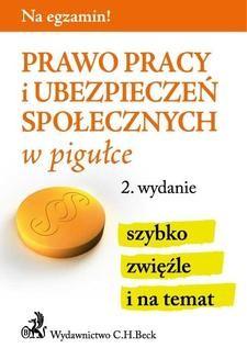 Ebook Prawo pracy i ubezpieczeń społecznych w pigułce. Wydanie 2 pdf
