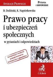 Chomikuj, ebook online Prawo pracy i ubezpieczeń społecznych w pytaniach i odpowiedziach.. Bartłomiej Dziliński