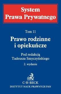 Chomikuj, ebook online Prawo rodzinne i opiekuńcze. System Prawa Prywatnego. Tom 11. Tadeusz Smyczyński