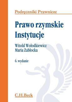 Ebook Prawo rzymskie. Instytucje. Wydanie 6 pdf