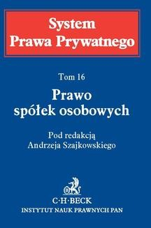 Chomikuj, ebook online Prawo spółek osobowych. System Prawa Prywatnego. Tom 16. Jerzy P. Naworski