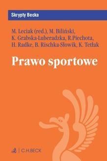 Chomikuj, ebook online Prawo sportowe. Michał Leciak
