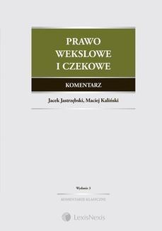 Ebook Prawo wekslowe i czekowe. Komentarz. Wydanie 3 pdf
