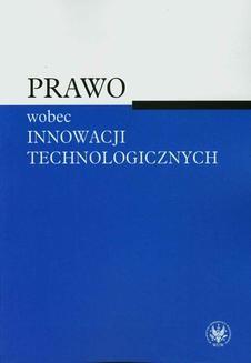 Ebook Prawo wobec innowacji technologicznych pdf
