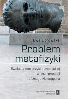 Chomikuj, ebook online Problem metafizyki. Ewa Borowska
