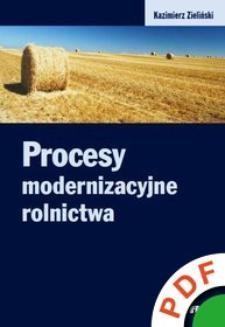 Ebook Procesy modernizacyjne rolnictwa pdf