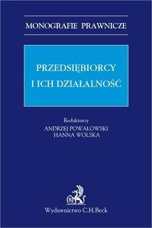 Chomikuj, pobierz ebook online Przedsiębiorcy i ich działalność. Andrzej Powałowski