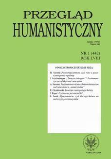 Chomikuj, ebook online Przegląd Humanistyczny 2014/1 (442). Roman Chymkowski