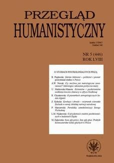 Chomikuj, ebook online Przegląd Humanistyczny 2014/5 (446). Lech M. Nijakowski
