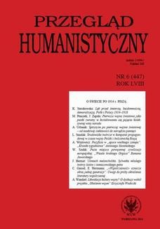 Chomikuj, ebook online Przegląd Humanistyczny 2014/6 (447). Grażyna Szelągowska