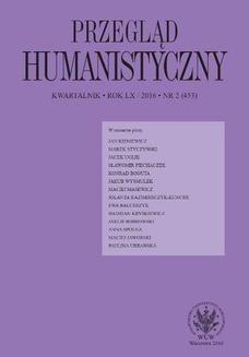 Chomikuj, pobierz ebook online Przegląd Humanistyczny 2016/2 (453). Praca zbiorowa