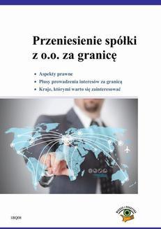 Chomikuj, ebook online Przeniesienie spółki z o.o. za granicę. Krzysztof Nyczaj