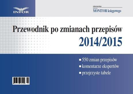 Ebook Przewodnik po zmianach przepisów 2014/2015 pdf