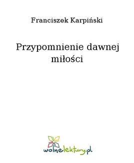 Ebook Przypomnienie dawnej miłości pdf