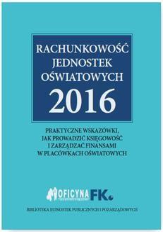 Chomikuj, ebook online Rachunkowość jednostek oświatowych 2016. Izabela Świderek