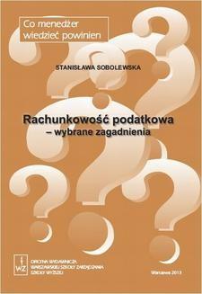 Ebook Rachunkowość podatkowa – wybrane zagadnienia pdf