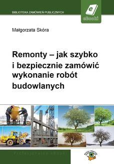 Ebook Remonty – jak szybko i bezpiecznie zamówić wykonanie robót budowlanych pdf