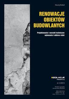 Chomikuj, ebook online Renowacje obiektów budowlanych. Maciej Rokiel