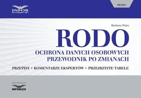 Ebook RODO. Ochrona danych osobowych. Przewodnik po zmianach pdf