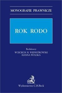 Chomikuj, ebook online Rok RODO. Wojciech Rafał Wiewiórowski
