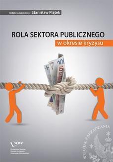 Chomikuj, ebook online Rola sektora publicznego w okresie kryzysu. Stanisław Piątek