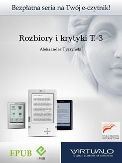 Ebook Rozbiory i krytyki T. 3 pdf