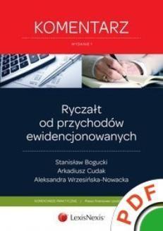 Ebook Ryczałt od przychodów ewidencjonowanych. Komentarz pdf