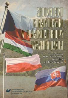 Ebook Sądownictwo konstytucyjne w państwach Grupy Wyszehradzkiej. Perspektywa politologiczno-prawna pdf