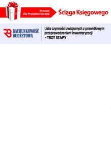 Ebook Ściąga Księgowego – Lista czynności związanych z prawidłowym przeprowadzeniem inwentaryzacji – TRZY ETAPY (PDF) pdf