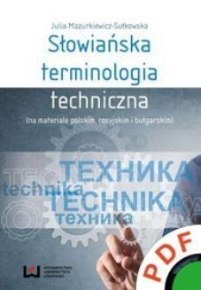 Ebook Słowiańska terminologia techniczna (na materiale polskim, rosyjskim i bułgarskim) pdf
