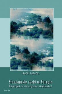 Ebook Słowiańskie rzeki w Europie. Przyczynek do starożytności słowiańskich pdf