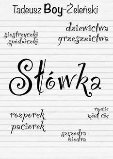 Chomikuj, ebook online Słówka. Tadeusz Boy-Żeleński