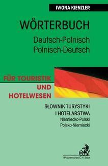 Chomikuj, ebook online Słownik turystyki i hotelarstwa Niemiecko-Polski Polsko-Niemiecki. Iwona Kienzler