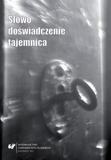 Chomikuj, ebook online Słowo, doświadczenie, tajemnica. red. Jacek Kempa