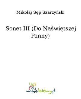 Chomikuj, ebook online Sonet III (Do Naświętszej Panny). Mikołaj Sęp Szarzyński