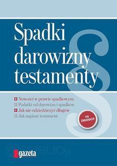 Chomikuj, ebook online Spadki, darowizny, testamenty. Maciej Bednarek