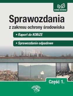 Ebook Sprawozdania z zakresu ochrony środowiska Część 1. – Raport do KOBiZE – Sprawozdanie odpadowe pdf