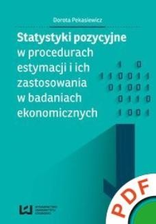 Ebook Statystyki pozycyjne w procedurach estymacji i ich zastosowania w badaniach ekonomicznych pdf
