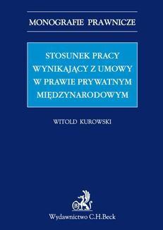 Ebook Stosunek pracy wynikający z umowy w prawie prywatnym międzynarodowym pdf